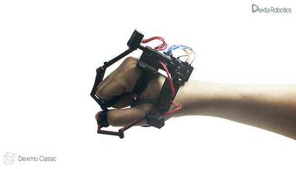 Экзоскелет для ладони и пальцев Dexmo от Dextra Robotics
